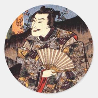 Satsuma Taira Tadanori for Suzumushi Classic Round Sticker