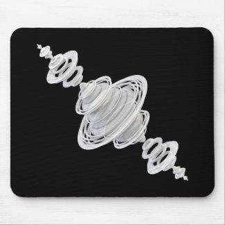 Sattelite - White Mouse Mat