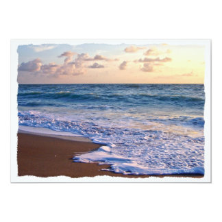 Saturated Florida beach at sunrise Card
