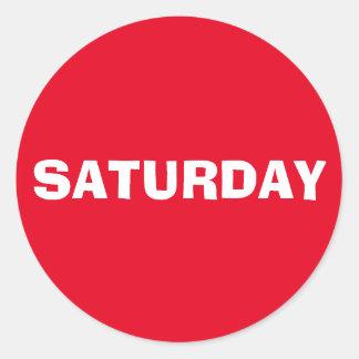 Saturday Ad Lib Red Sticker by Janz