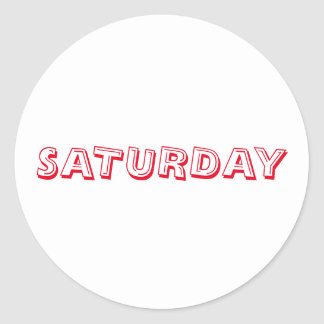 Saturday Alphabet Soup Red White Sticker by Janz