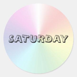 Saturday Alphabet Soup Shimmer Sticker by Janz