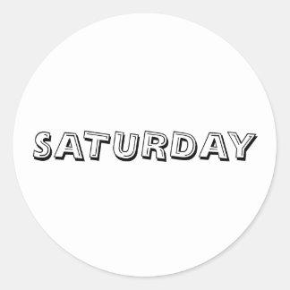 Saturday Alphabet Soup White Sticker by Janz