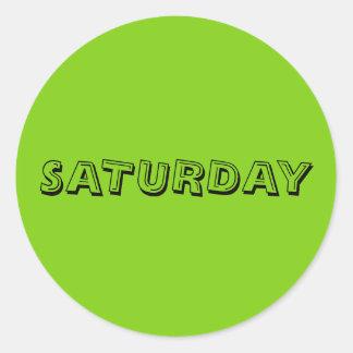 Saturday Alphabet Soup Yellowgreen Sticker by Janz