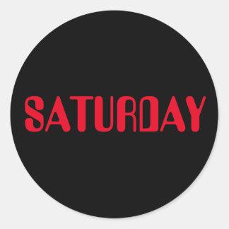 Saturday Amelia Red Black Sticker by Janz