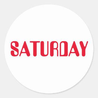 Saturday Amelia Red White Sticker by Janz