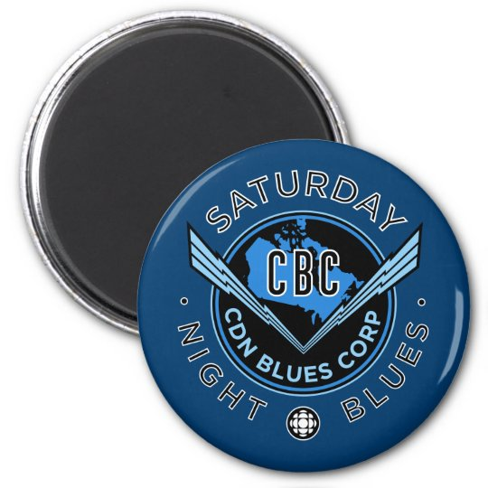 Saturday Night Blues 6 Cm Round Magnet