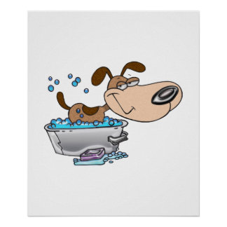 Saturday Night Dog Bath Poster