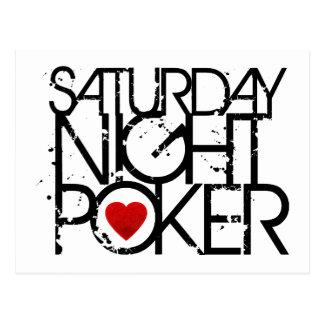 Saturday Night Poker Postcard