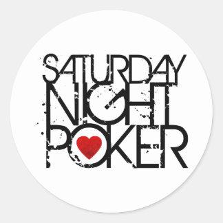 Saturday Night Poker Round Sticker