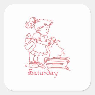 Saturday Square Stickers