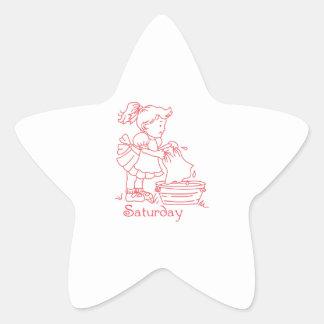 Saturday Star Stickers