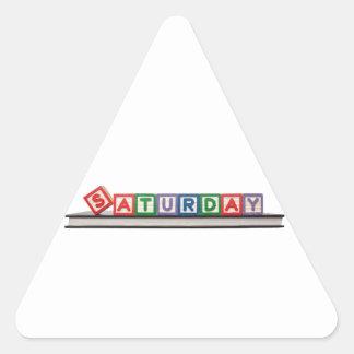 Saturday Triangle Sticker
