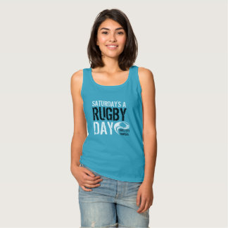 Saturday's a Rugby Day BLUE Tank Top