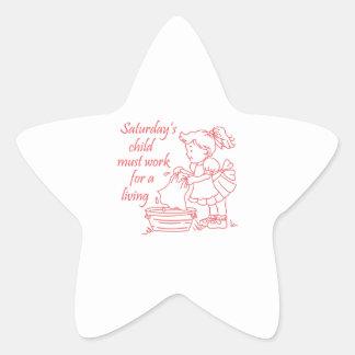 Saturday's Child Star Stickers