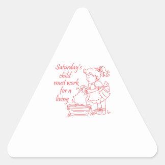 Saturday's Child Triangle Sticker