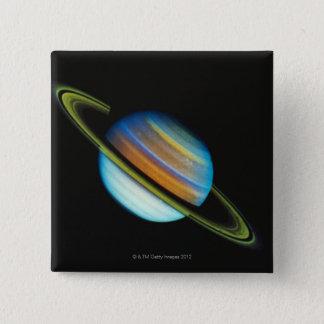 Saturn 4 15 cm square badge