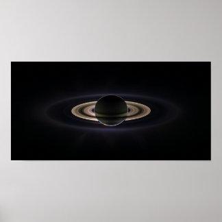 Saturn Aglow Poster