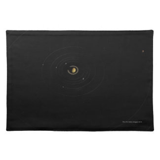 Saturn and Its Moons Placemat
