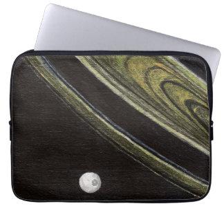 Saturn and Tethys neoprene laptop sleeve