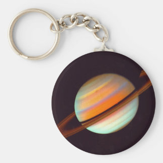 SATURN BASIC ROUND BUTTON KEY RING