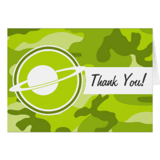 Saturn; bright green camo, camouflage card