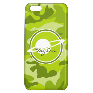 Saturn bright green camo camouflage iPhone 5C covers