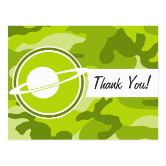 Saturn; bright green camo, camouflage post cards