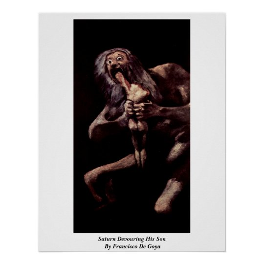 Saturn Devouring His Son By Francisco De Goya