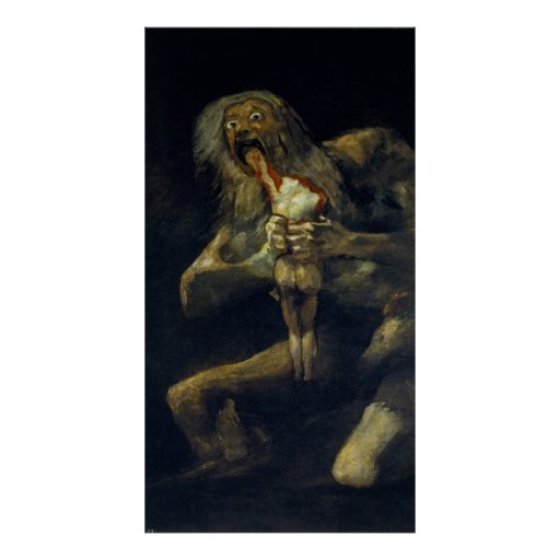 Saturn Devouring His Son by Francisco de Goya Poster