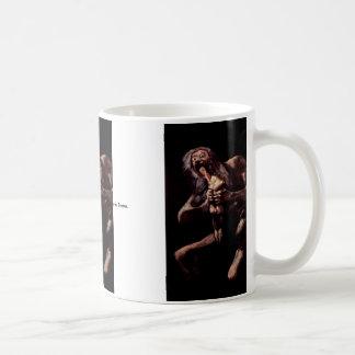 Saturn Devouring His Son From The Pinturas Negras Basic White Mug