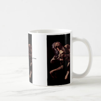 Saturn Devouring His Son From The Pinturas Negras Coffee Mug
