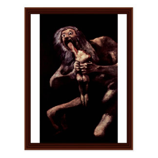 Saturn Devouring His Son From The Pinturas Negras Postcards