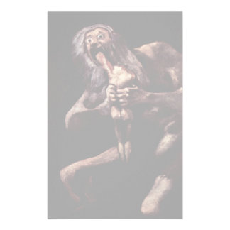 Saturn Devouring His Son From The Pinturas Negras Stationery Design