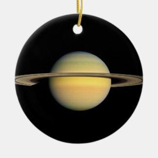 Saturn during Equinox Round Ceramic Decoration