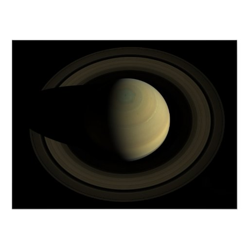 Saturn from Above Poster