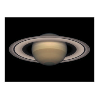 Saturn Huge Poster - Space and Astronomy gift