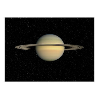 Saturn in Star Field  - Resizeable Poster