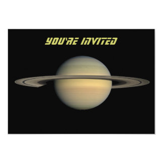 Saturn 13 Cm X 18 Cm Invitation Card