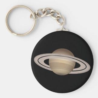 Saturn Basic Round Button Key Ring