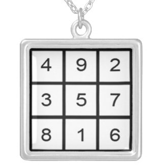 Saturn Magic Square Necklace