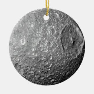 Saturn Moon Mimas Round Ceramic Decoration
