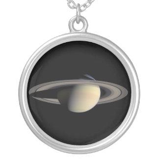 Saturn Round Pendant Necklace