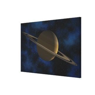 Saturn planet canvas print