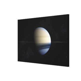 Saturn planet in solar system, close-up 2 canvas print