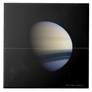 Saturn planet in solar system, close-up 2 tile