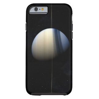 Saturn planet in solar system, close-up 2 tough iPhone 6 case