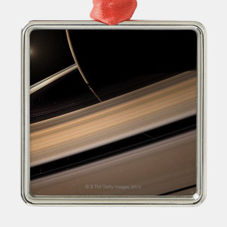 Saturn planet in solar system, close-up 3 christmas ornament