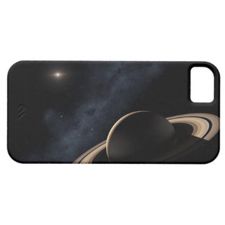 Saturn planet in solar system, close-up iPhone 5 case