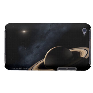 Saturn planet in solar system, close-up iPod Case-Mate cases